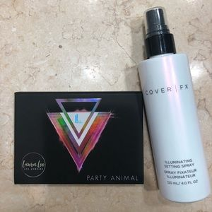 CoverFX setting spray and FREE eyeshadow palette
